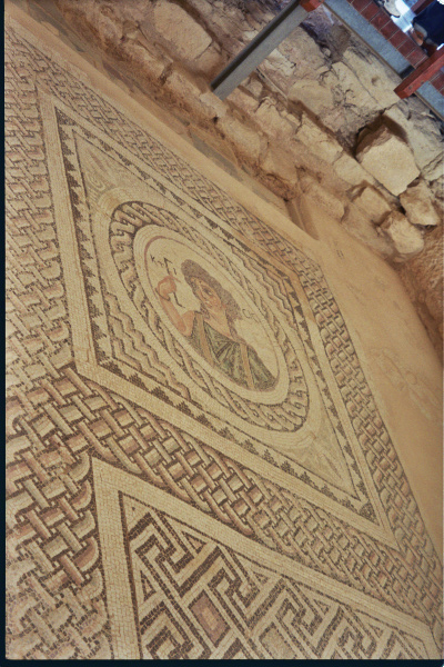Kouse of Eustolios, KTISIS mosaic, Kourion, Cyprus, Clio Ancient Art Antiquities