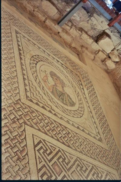Kouse of Eustolios, KTISIS mosaic, Kourion, Cyprus, Clio Ancient Art Antiquities