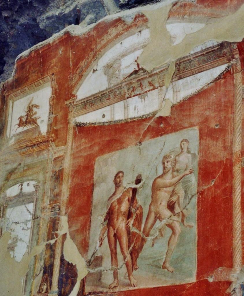 Hall of the Augustals, Battle of Hercules & Acheloo, Herculaneum