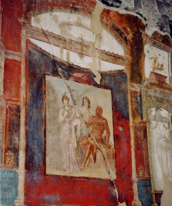 Hall of the Augustals, Entrance of Hercules into Olympus, Herculaneum