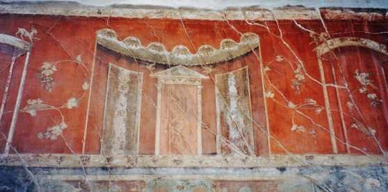 Interior Fresco with Architectural Fantasy, House of the Wooden Screen, Herculaneum