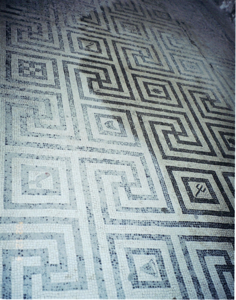 Mosaic floor, Women's changing rooms, Central Baths, Herculaneum