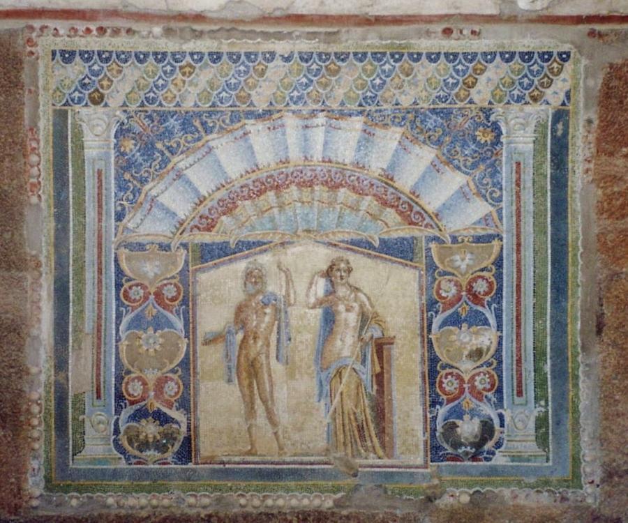 Mosaic Panel, Neptune and Amphitrite, House of the Neptune Mosaic, Herculaneum