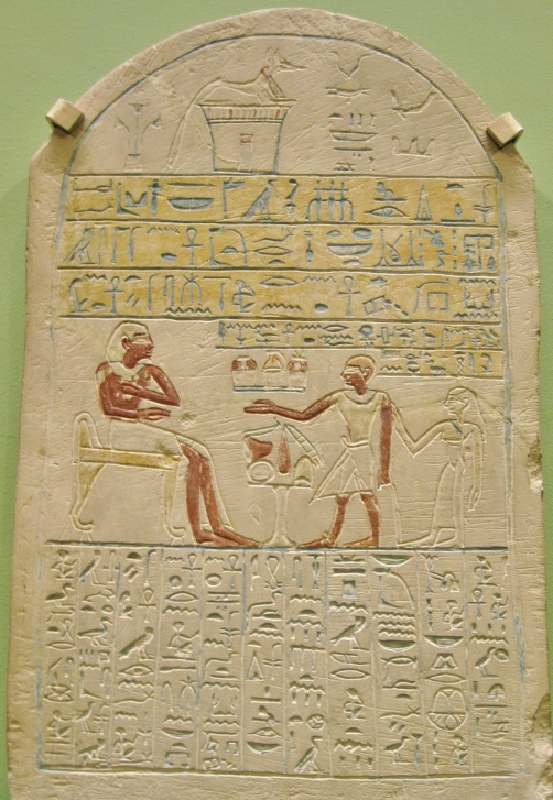Egyptian funerary stela, Egyptian art, Egyptian antiquities, Ashmolean Museum