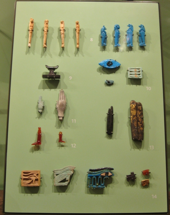 Egyptian amulets, Egyptian antiquities, Egyptian art, Egyptian faience, Ashmolean Museum