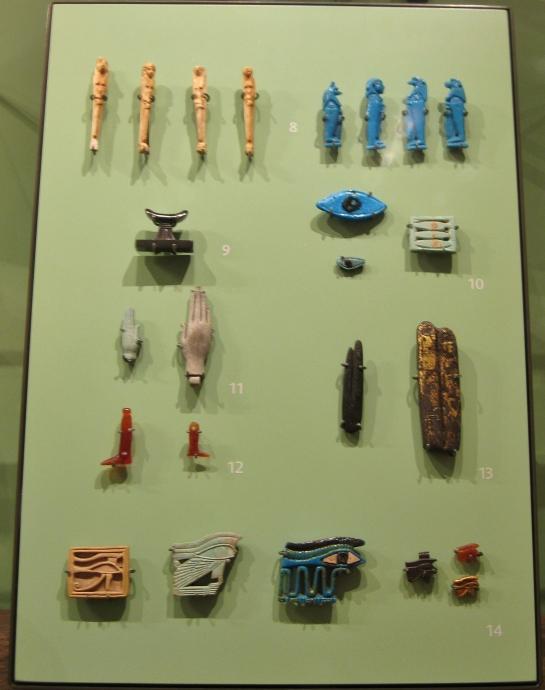 Egyptian amulets, Egyptian antiquities, Egyptian art, Egyptian faience, Ashmolean Museum