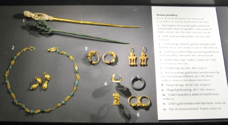 Roman art, Roman Jewelry, Roman antiquities, Clio Ancient Art, Ashmolean Museum