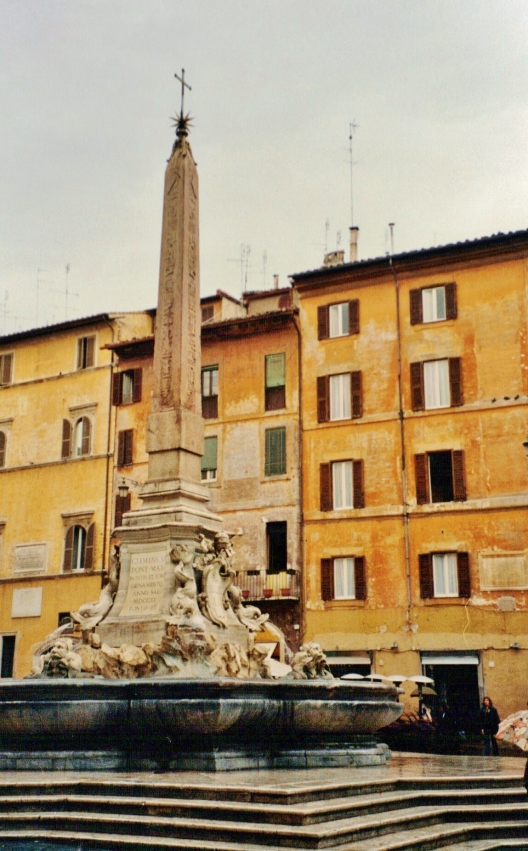 Egyptian Obelisk in Baroque fountain, Piazza della Rotunda, Rome, Roman antiquities, antiquities dealers, Clio Ancient Art