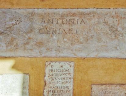 Late Roman Funerary Inscriptions, San Giorgio in Velabro, Roman antiquities