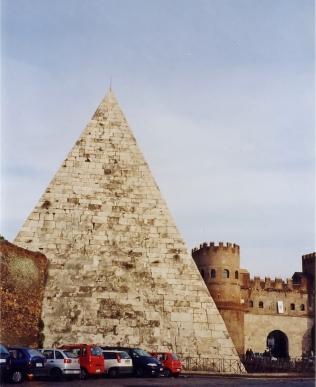 Pyramid of Gaius Cestius, Aurelian Walls, Porta San Paolo