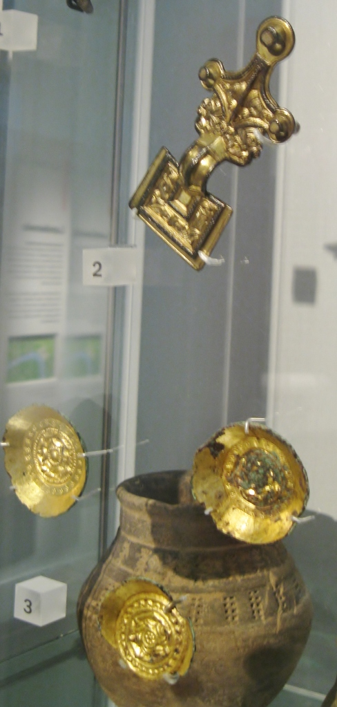 Saxon, Anglo-Saxon, Post-Roman, early Medieval, Saxon Brooch, Saxon shield boss, Museum of London