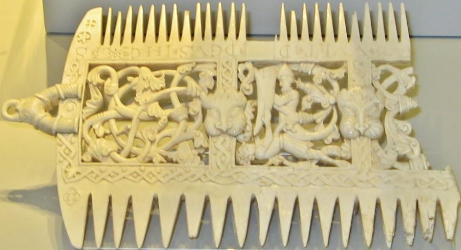 Ivory comb, British Museum, Medieval Art