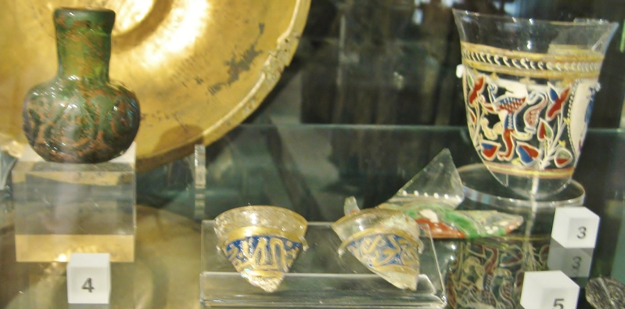 Medieval glass, Venetian glass, Islamic glass, Museum of London