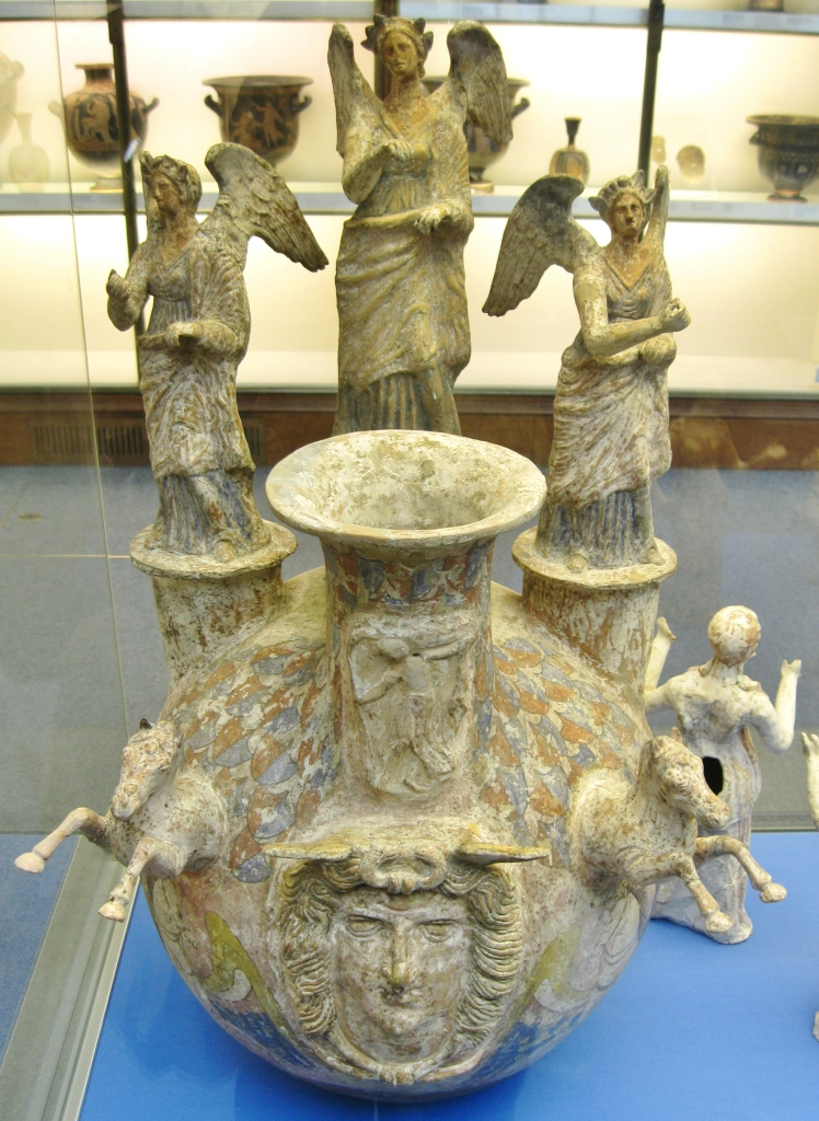 native Italic Askos, Greek colony of Canosa, Greek South Italian pottery, Magna Graecia, British Museum