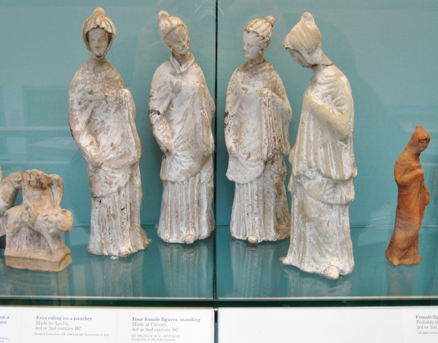 Greek terracotta figurines, Magna Gaecia, Greek colonies, British Museum