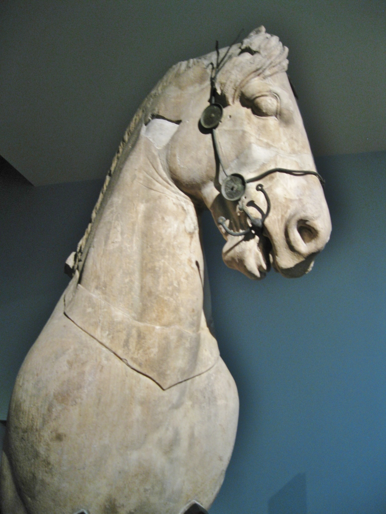 A-2 Forepart of a monumental horse from the chariot group once surmounting the Masoleum