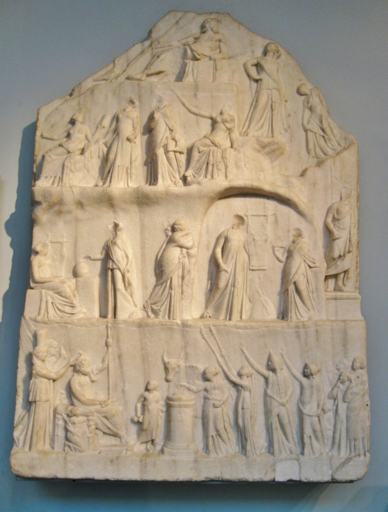 Apotheosis of Homer, temple in honor of Homer at Alexandria, Ptolemaic sculpture