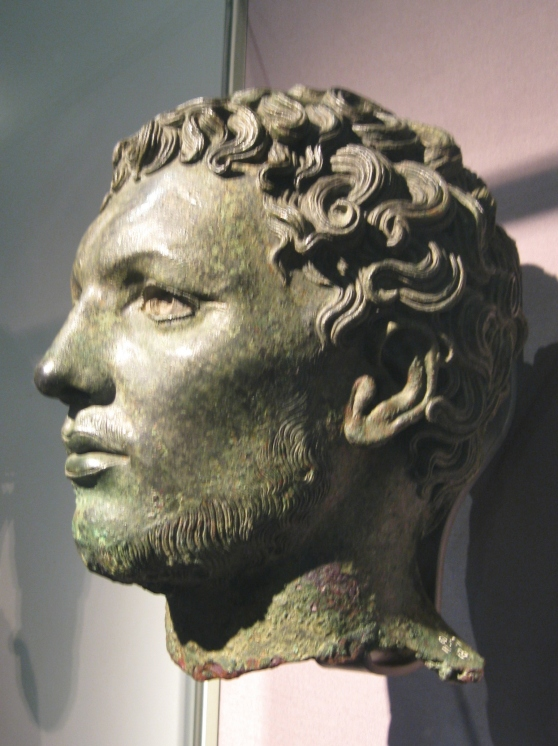 Bronze head of a North African, Temple of Apollo at Cyrene Libya, Greek bronze sculpture, British Museum