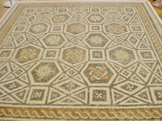 Roman mosaic, mosaic floor, Roman art