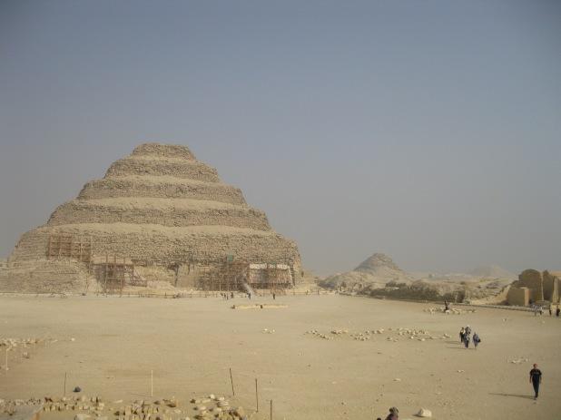 The Step Pyramid complex at Saqqara. Imhotep's creation.