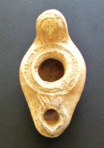 Byzantine pottery oil lamp, 5th-6th Century