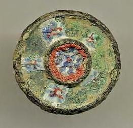 Roman Enameled Bronze Mount 1st-3rd Century AD