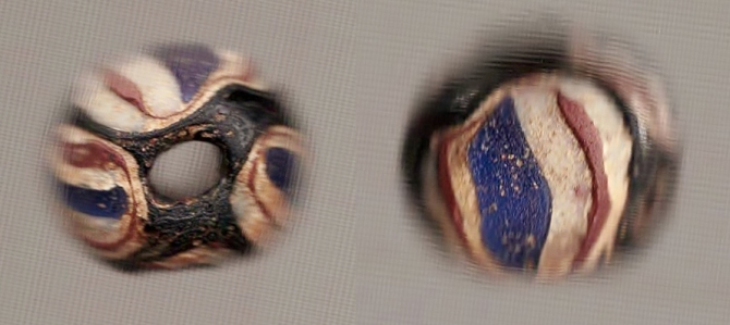 Roman Mosaic Glass Bead, 1st-2nd Century CE, Ex London collection through 2005