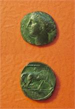 Sicily, Syracuse, Bronze 18 mm, Time of Agathokles,