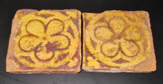 Two Medieval English Floor Tiles 13th-15th Century