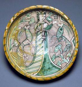 Italian Majolica, medieval Italian pottery, 14th Century pottery, Medyterranean majolica