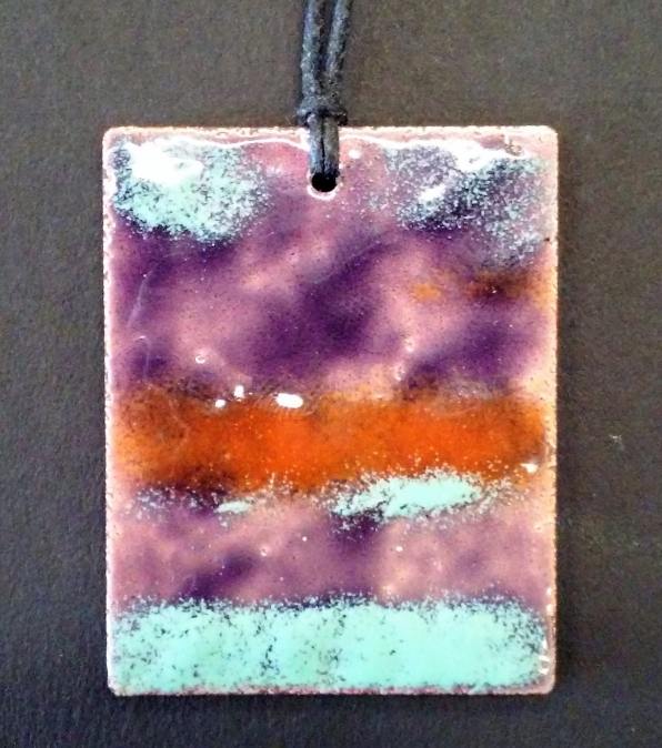 Christof Maupin artist, PastPresent Art Craft, enamel on copper, enamel pendants, transparent enamels