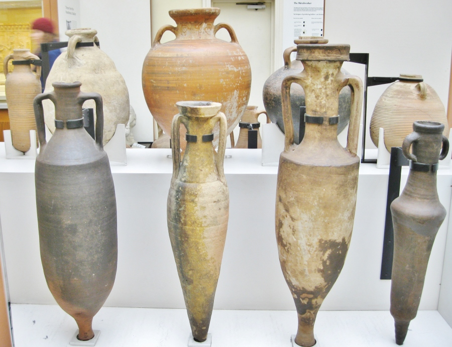 Clio Ancient Art, Clio Antiquities, Roman amphora, Greek amphora, pottery amphora, British Museum