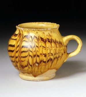 English slip trailed earthenware, English trailed combed pottery