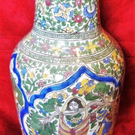 clio ancient art, Islamic ceramics, Qajar pottery, Islamic art