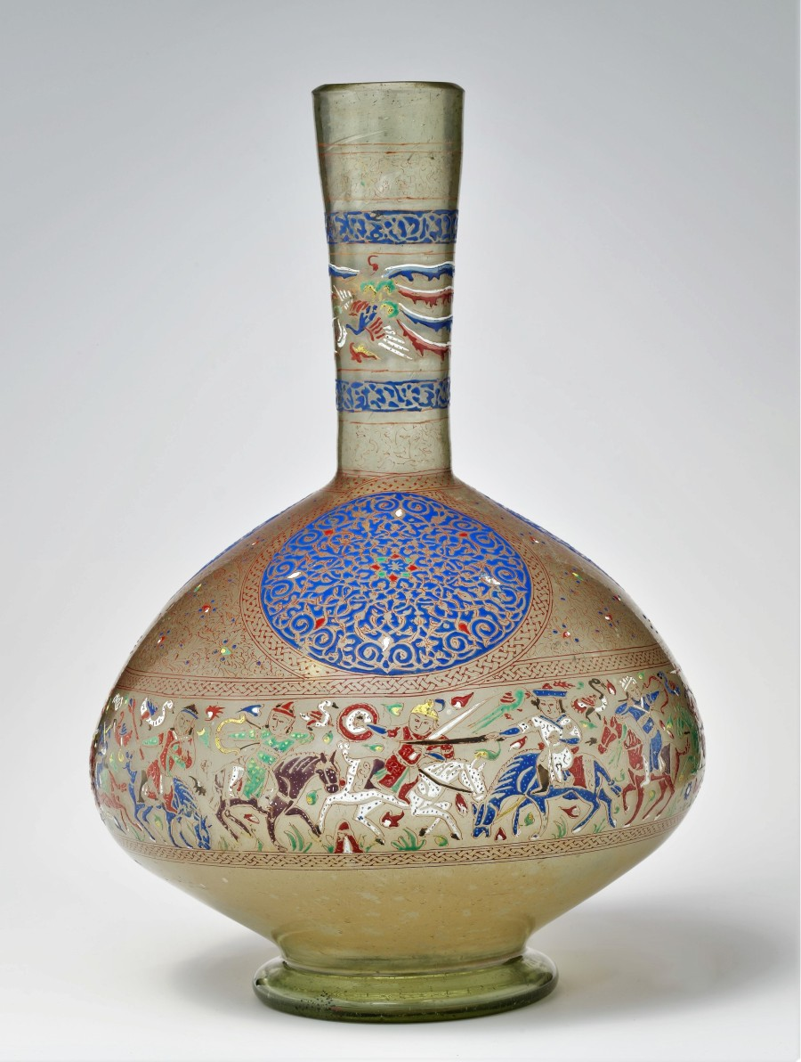 Enameled and Gilded Bottle,late 13th century Metropolitan Museum of Art New York